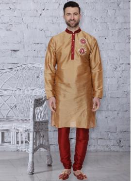 Gold Festival Dupion Silk Kurta Pyjama
