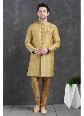 Gold Print Indo Western