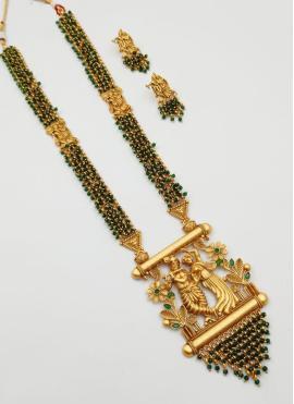Gold Reception Pendant Set