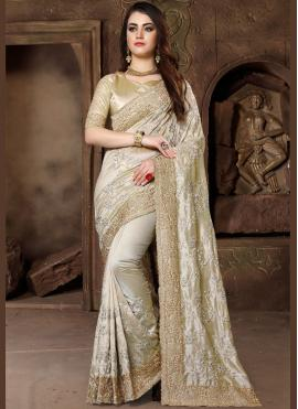 Gold Wedding Art Silk Traditional Designer Saree