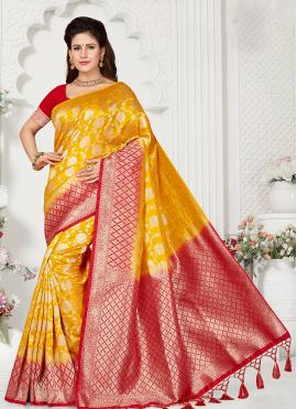 Gold Zari Reception Designer Traditional Saree
