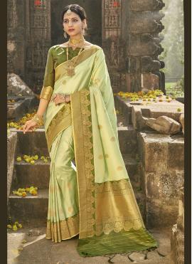Gorgonize Fancy Banarasi Silk Traditional Designer Saree