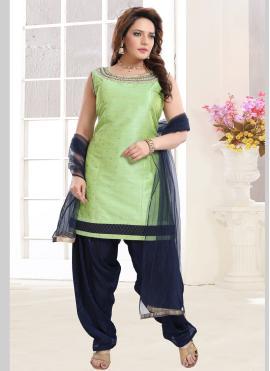 Gorgonize Handwork Green Salwar Suit