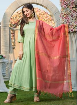 Graceful Plain Festival Anarkali Salwar Kameez