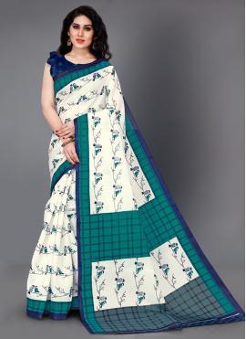 Graceful Printed Silk Trendy Saree