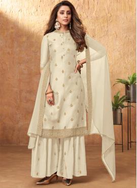 Grandiose Off White Designer Pakistani Salwar Suit