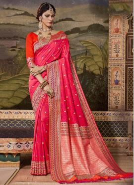 Grandiose Silk Pink Contemporary Saree