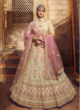 Grandiose Thread Organza Bollywood Lehenga Choli
