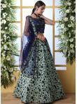 Green Art Silk Designer Lehenga Choli - 1