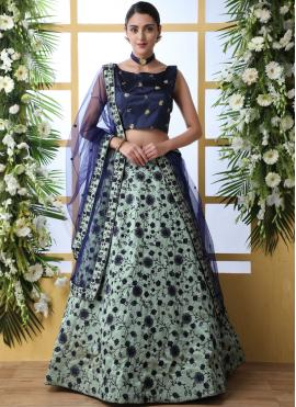 Green Art Silk Designer Lehenga Choli