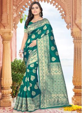 Green Ceremonial Designer Traditional Saree