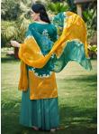 Green Fancy Fabric Festival Designer Palazzo Suit - 1