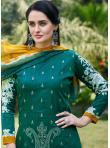 Green Fancy Fabric Festival Designer Palazzo Suit - 2