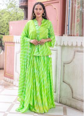 Green Fancy Festival Readymade Suit