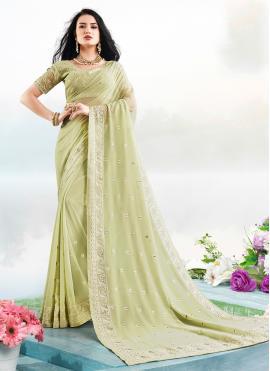 Green Festival Classic Saree