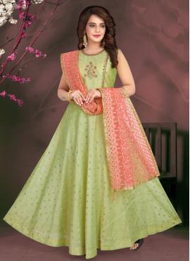 Green Mehndi Readymade Suit