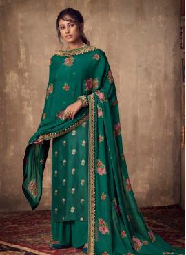 Green Reception Salwar Suit