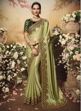 Green Silk Reception Traditional Saree