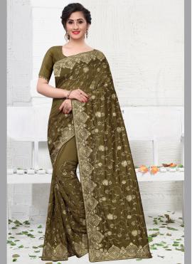 Green Silk Stone Silk Saree