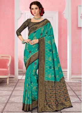 Green Weaving Contemporary Saree
