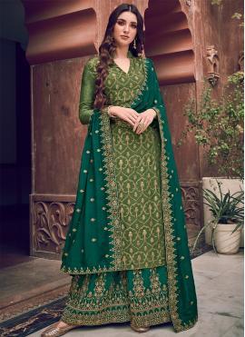Green Wedding Silk Designer Salwar Kameez