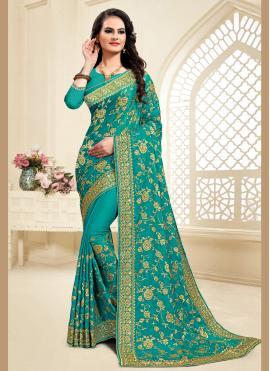 Green Zari Classic Saree