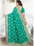 Green Zari Traditional Saree - 2