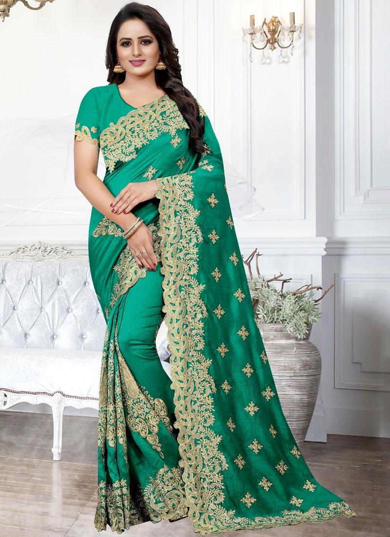 Green Zari Traditional Saree