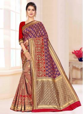 Groovy Banarasi Silk Weaving Designer Saree