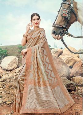 Haute Banarasi Silk Grey Contemporary Saree
