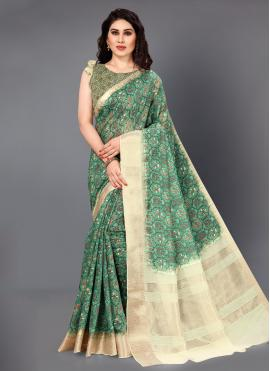 Haute Digital Print Silk Designer Saree