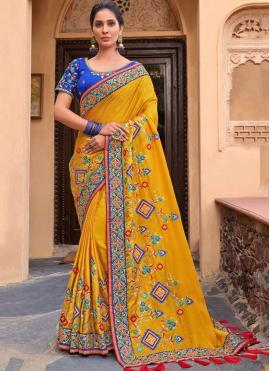 Haute Yellow Traditional Saree