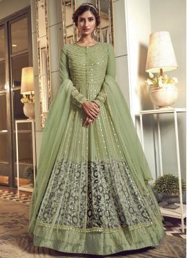 Honourable Green Sangeet Floor Length Anarkali Salwar Suit