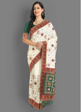 Honourable Silk Mehndi Silk Saree
