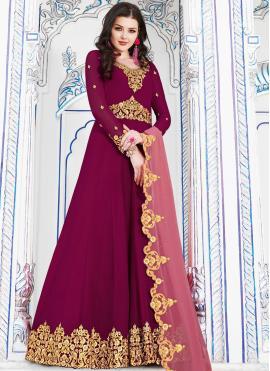Hot Pink Color Anarkali Salwar Kameez