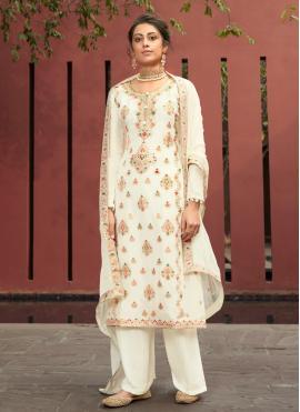Hypnotizing Resham Sangeet Designer Palazzo Salwar Suit