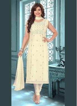 Hypnotizing Silk Embroidered Trendy Salwar Kameez