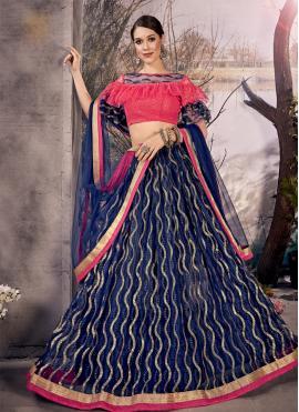 Ideal Blue Thread Designer Lehenga Choli