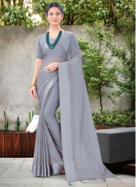 Immaculate Grey Classic Designer Saree
