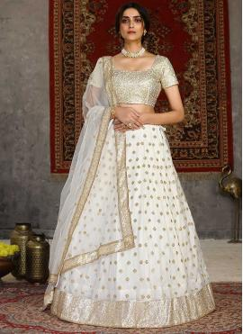 Immaculate Net Off White Embroidered Lehenga Choli