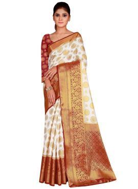 Immaculate Silk Weaving Designer Saree