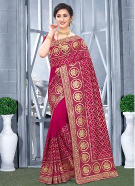 Impeccable Embroidered Traditional Designer Saree