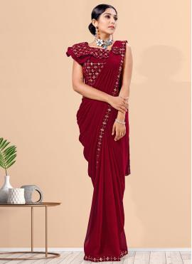 Impeccable Lycra Designer Saree
