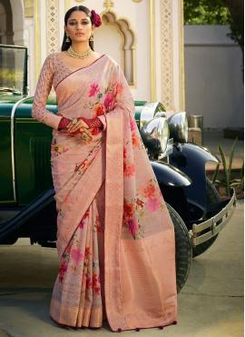Impeccable Pink Festival Classic Designer Saree