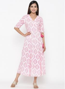 Impeccable Print Casual Party Wear Kurti