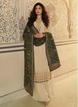 Impeccable Resham Kritika Kamra Faux Georgette Designer Palazzo Suit