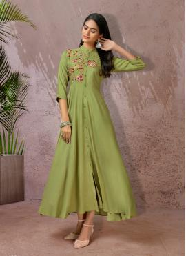 Imposing Embroidered Festival Casual Kurti