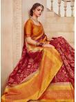 Impressive Banarasi Silk Weaving Red Classic Saree - 1