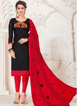 Impressive Silk Casual Churidar Designer Suit