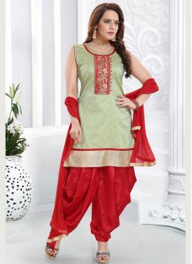 Incredible Malbari Silk  Embroidered Salwar Suit